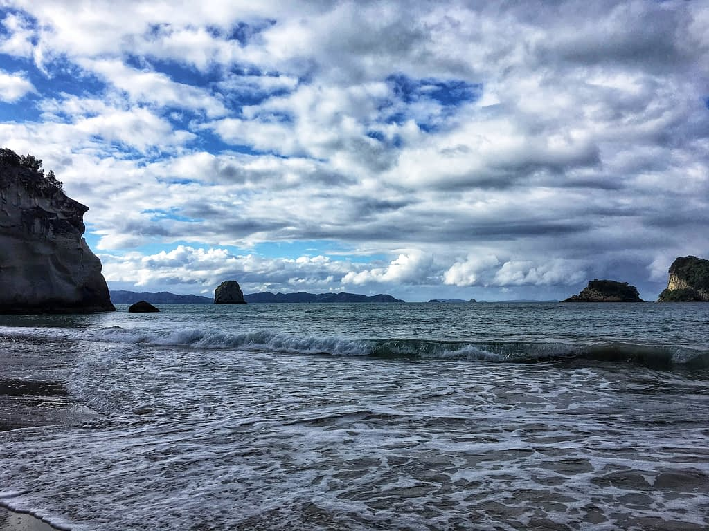 Cathedral Cove beach views New Zealand