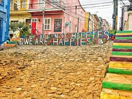 what to do in valparaiso - staircases around town